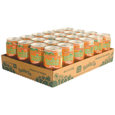 Hawaiian Sun Passion Orange Juice Drink (11.5 fl. oz. can, 24 ct.)