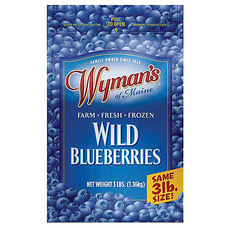 Wyman's Wild Blueberries, Frozen (48 oz.)