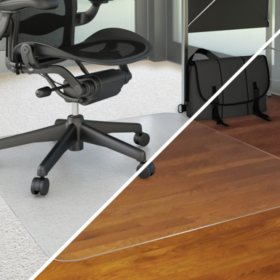 "Deflecto 36""x48"" ALL SURFACE Rectangle Chairmat for Low Pile Carpet or Hard Floors"