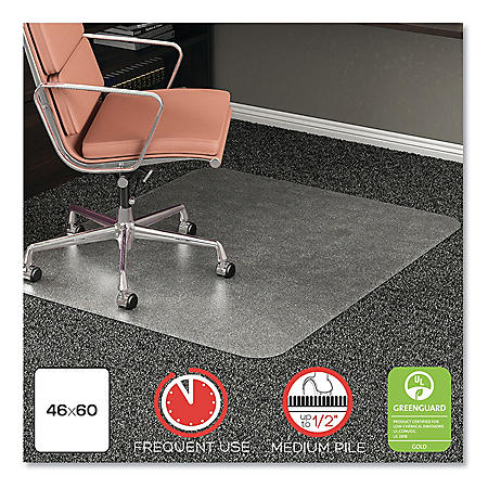 Deflecto RollaMat Frequent Use Chair Mat For Medium Pile Carpet 46 x 60