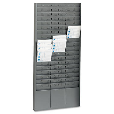 SteelMaster - Steel Time Card Rack with Adjustable Dividers -  5