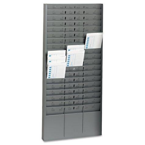 "SteelMaster - Steel Time Card Rack with Adjustable Dividers -  5"" Pockets"