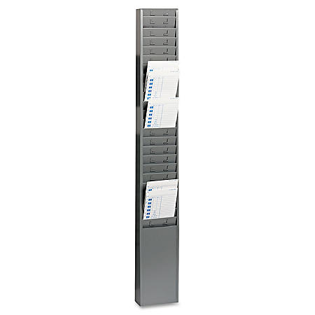 "OFFLINE- SteelMaster - Steel Time Card Rack with Fixed 4-1/2"" x 5"" Pockets"