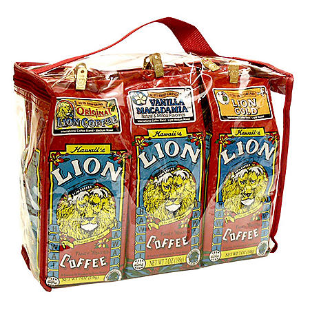 Lion Coffee Gift Tote, Assorted Flavors (7 oz. ea., 6 pk.)