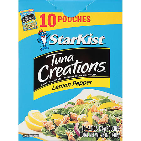 StarKist Tuna Creations, Lemon Pepper (2.6 oz.,10 pk.)