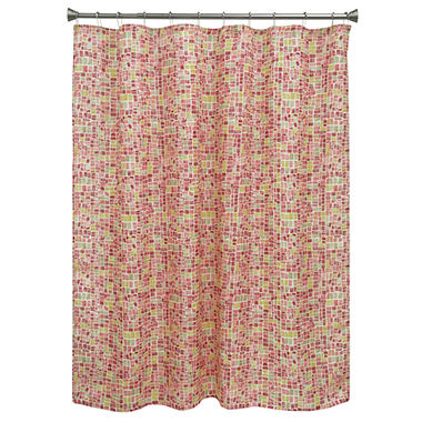 Bacova Cancun Tile Orange/Red Shower curtain