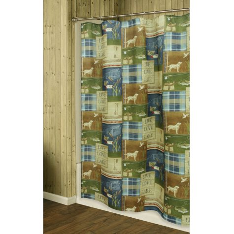 Bacova Barkley Printed Shower Curtain