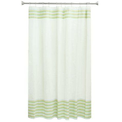 Bocova Seersucker Shower Curtain, White
