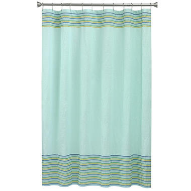 Perfect Bacova Seersucker Shower Curtain, Aqua Smoke