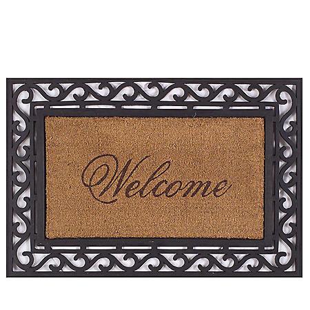 Framed Welcome Door Mat , 20 x 36