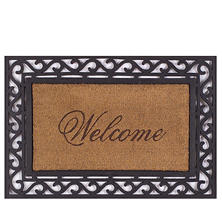 Framed Welcome Door Mat , 20 x 36