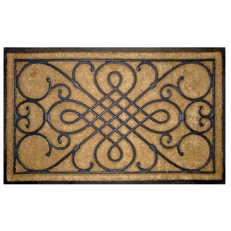 "Victorian Gate Rubber and Koko 24""x36"" Estate Size Doormat"