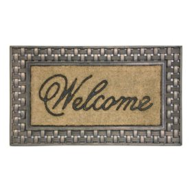 "Bronze Basketweave Framed Koko 18""x30"" Doormat"