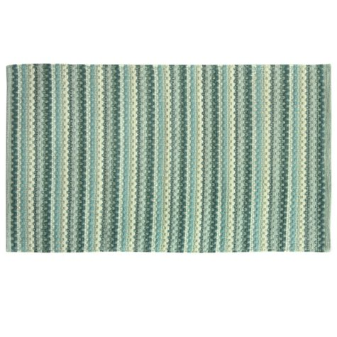 Textured Woven Blue Rug (Assorted Sizes)