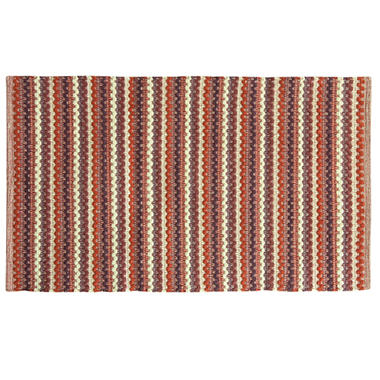 Textured Woven Cranberry Rug (Assorted Sizes)