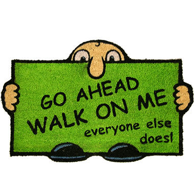 Walk on Me Printed Door Mat