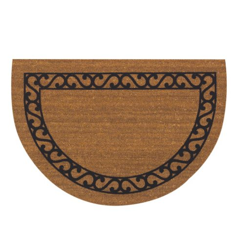 Iron Gate Half Round 24 x 36 Flocked Border Doormat