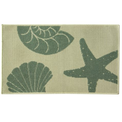 """Stars and Shells Large Accent Rug, 20"""" x 33"""""""