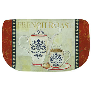 Printed Memory Foam Slice Kitchen Mat, French Roast (18