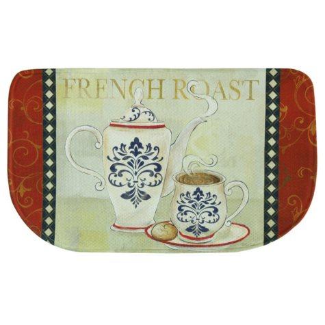 "Printed Memory Foam Slice Kitchen Mat, French Roast (18"" x 30"")"