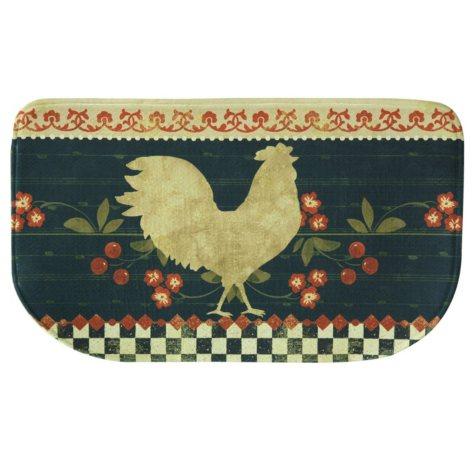 "Printed Memory Foam Slice Kitchen Mat, Retro Rooster (18"" x 30"")"