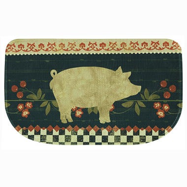 Printed Memory Foam Slice Kitchen Mat, Retro Pig (18