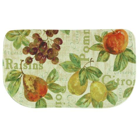 "Bacova Printed Memory Foam Rustic Fruit Slice Mat, 18"" x 30"""