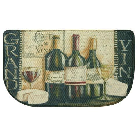 "Bacova Printed Memory Foam Grand Vin Slice Mat, 18"" x 30"""