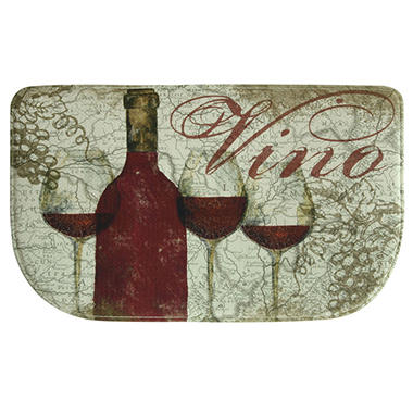 Bacova Printed Memory Foam Vino Red Slice Mat, 18
