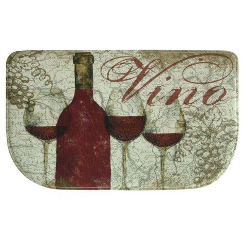 "Bacova Printed Memory Foam Vino Red Slice Mat, 18"" x 30"""