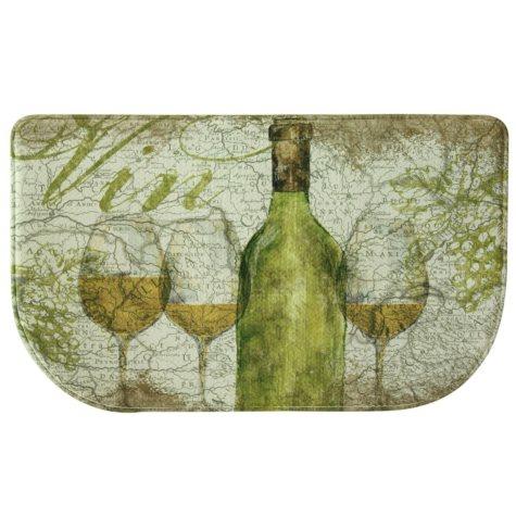 "Bacova Printed Memory Foam Vino Green Slice Mat, 18"" x 30"""