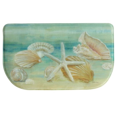 "Bacova Printed Memory Foam Horizon Shells Slice Mat, 18"" x 30"""
