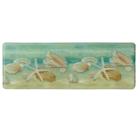 "Bacova Printed Memory Foam Horizon Shells Runner, 20"" x 55"""