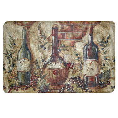 Bacova Printed Memory Foam Wine Bottles Oversized Mat, 22