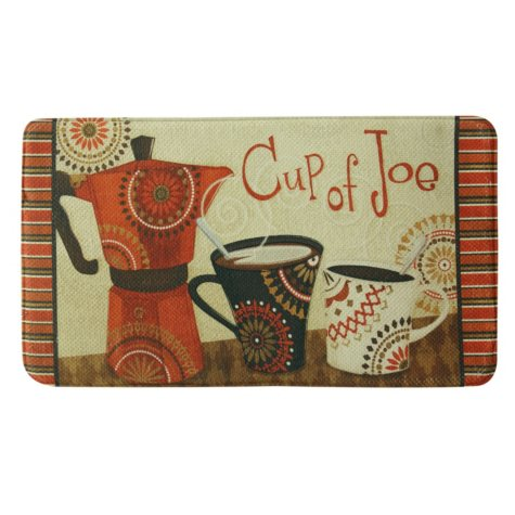 "Bacova Printed Memory Foam Cup of Joe Oversized Mat, 22"" x 35"""