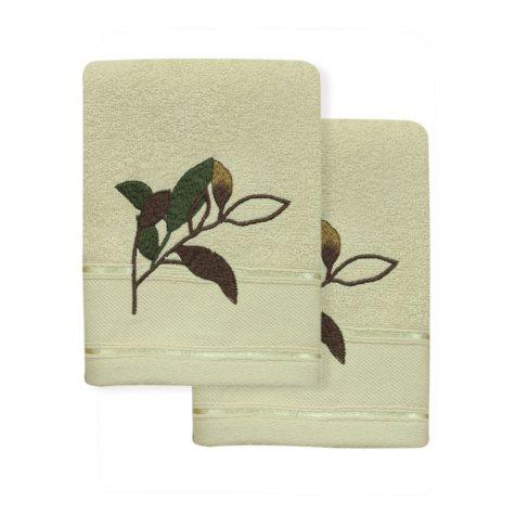 Autumn Leaves 2-Piece Fingertip Towel Set