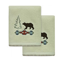 Echo Trail Silhouette 2-Piece Hand Towel Set