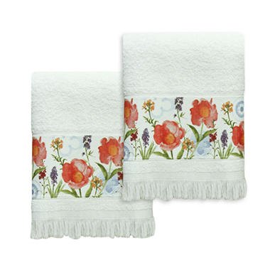 Bacova Watercolor Medallion 2-Piece Fingertip Towel Set
