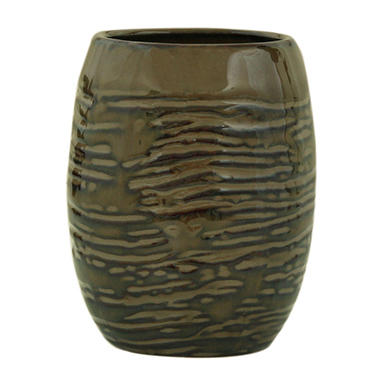 Brown Stoneware Tumbler