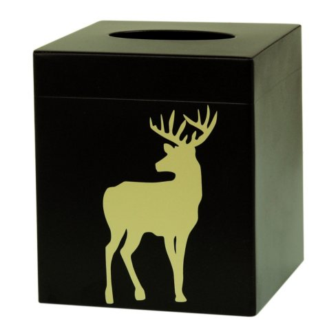 Bacova White Tail Deer Tissue Holder