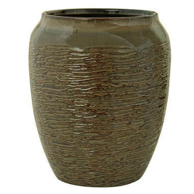 Bacova Brown Stoneware Wastebasket
