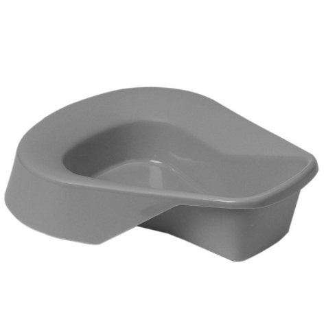 Medline Pontoon Bedpan, Graphite