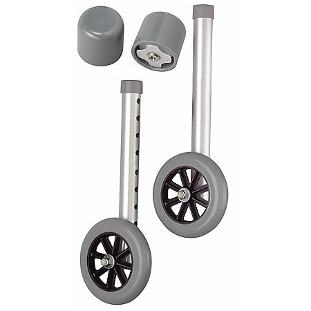 "Medline 5"" Walker Wheels with Glide Caps"