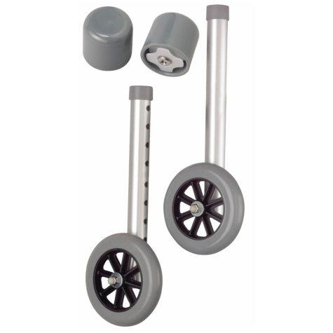 "Medline 5"" Walker Wheels with Glide Caps"