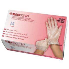 MediGuard Vinyl Synthetic Exam Gloves, Medium, 10 boxes - 150 ct. each