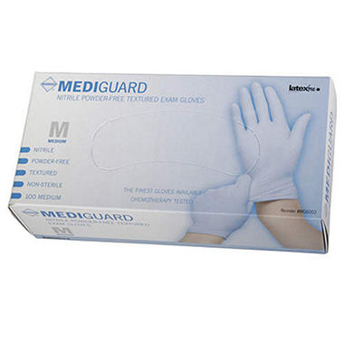Mediguard Nitrile Exam Gloves - Medium