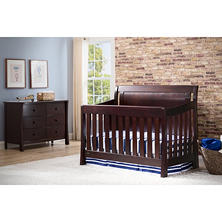 Simmons Kids Madisson Convertible Crib 'N' More, Dark Espresso
