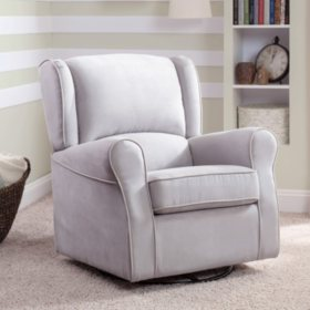 Delta Children Morgan Upholstered Glider, Gray