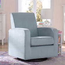 Delta Children Chloe Upholstered Glider, Blue