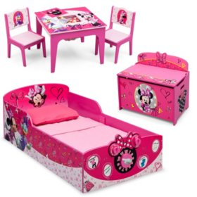 Delta Children Minnie Mouse Deluxe 3-Piece Toddler Bedroom Set